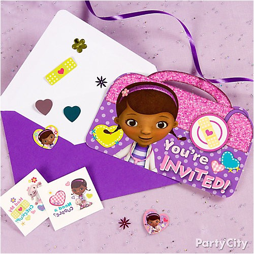 pi doc mcstuffins invite with surprise idea