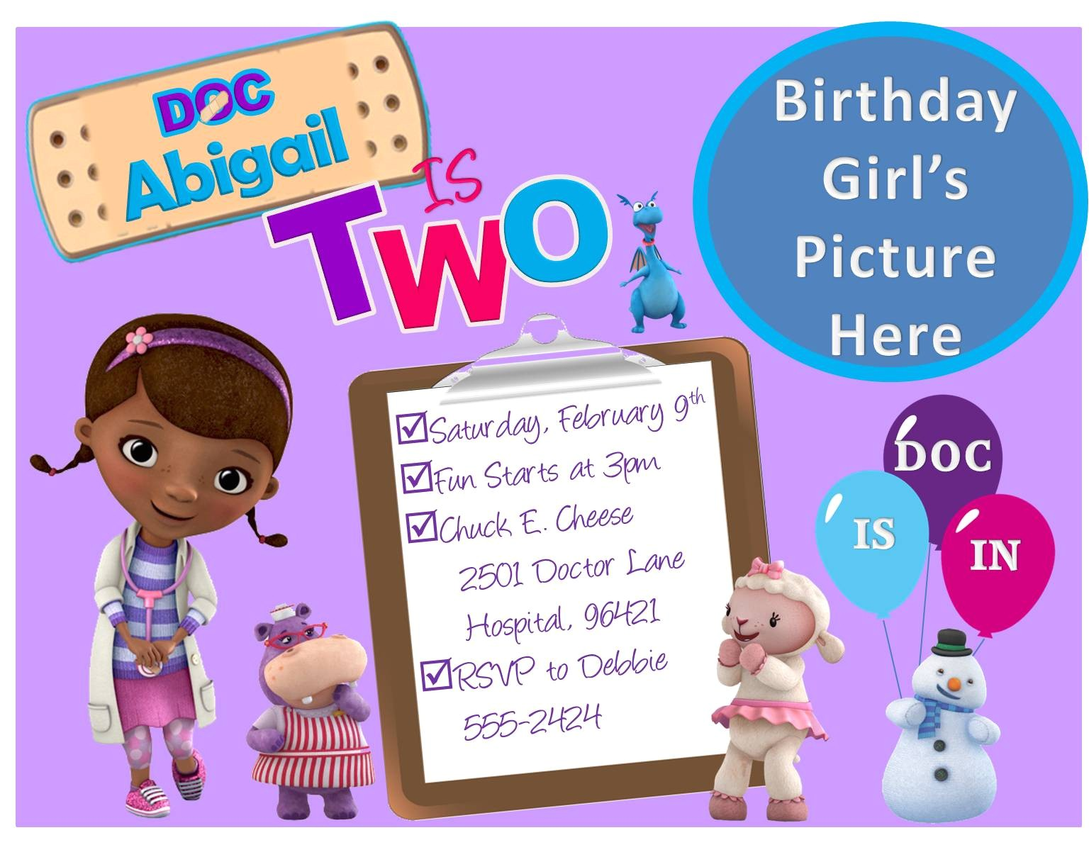 create doc mcstuffins birthday invitations free
