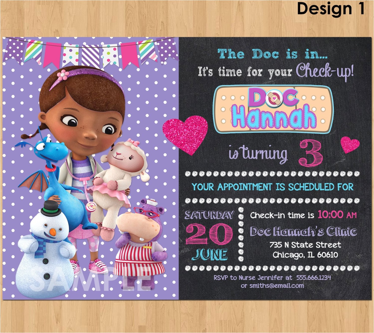 doc mcstuffin invitation doc mcstuffins