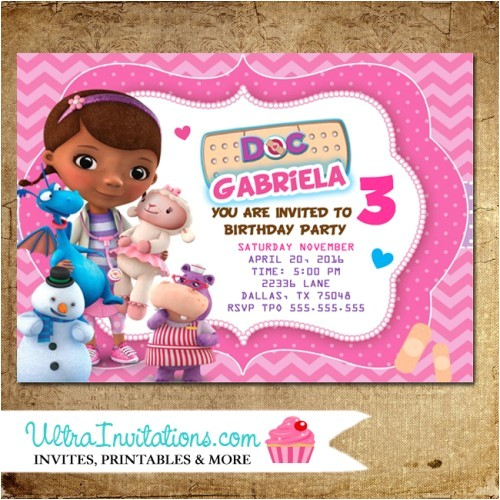 doc mcstuffins invitations party