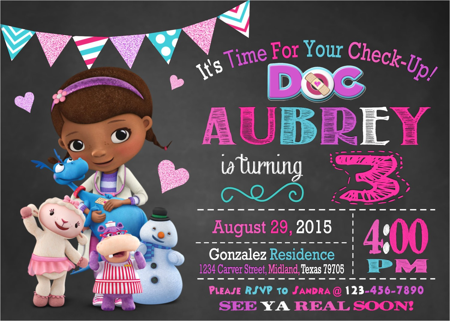 doc mcstuffins party invitations by means of creating catchy outlooks around your party invitation templates 4