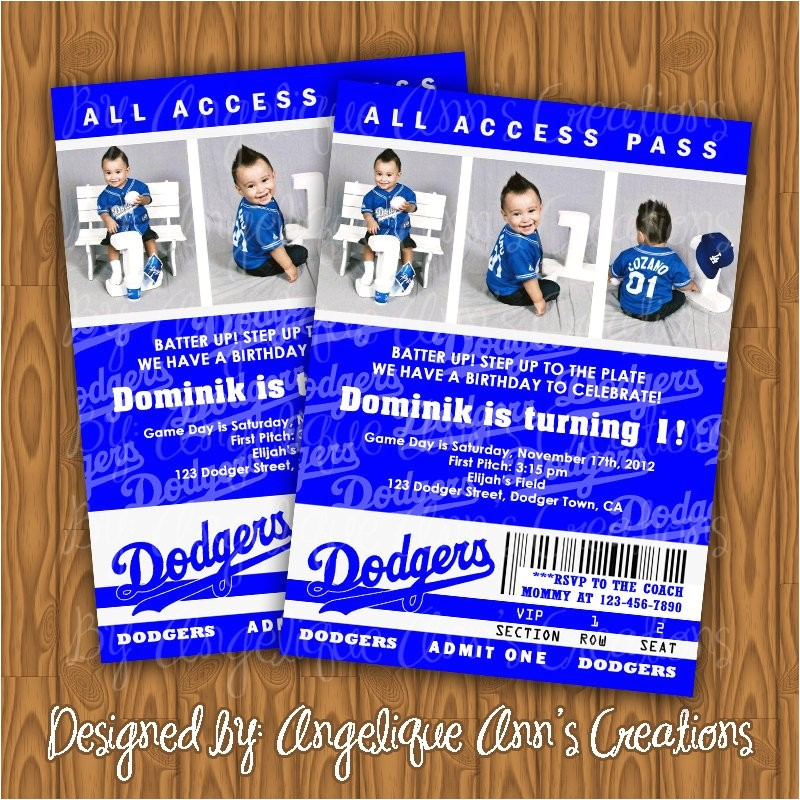 dodgers ticket style birthday party