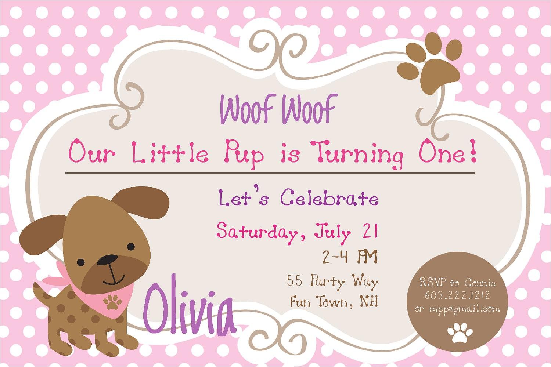 dog birthday invitations inspiration
