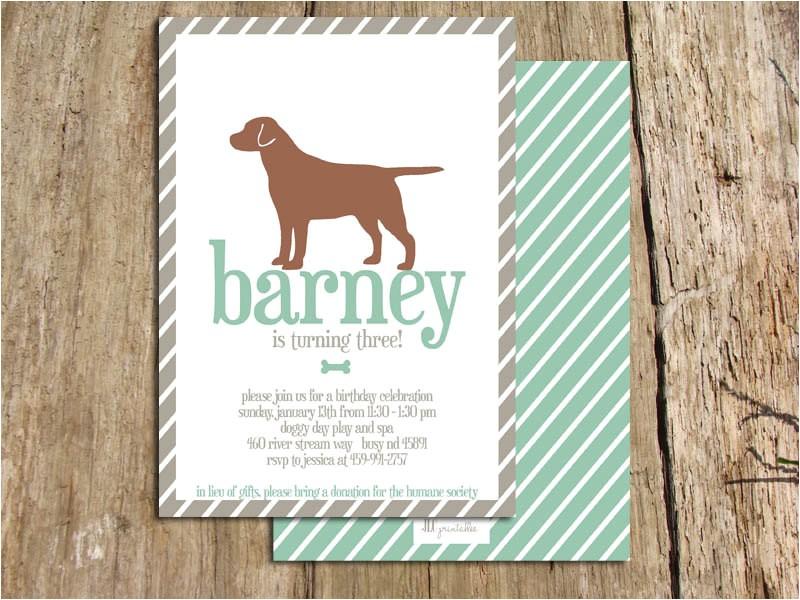 dog birthday party invitations