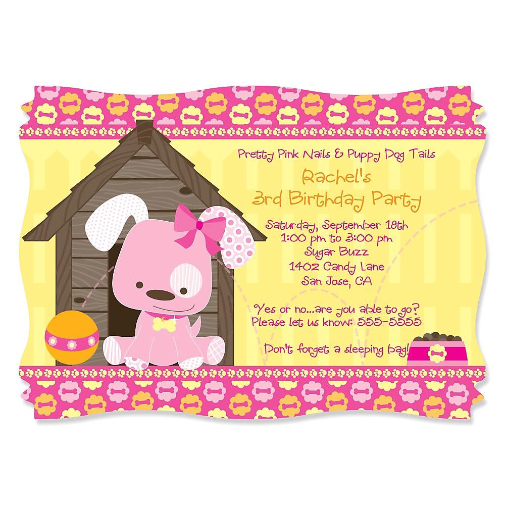 dog themed birthday party invitations