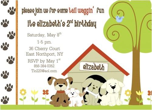 dog themed birthday party invitation ideas