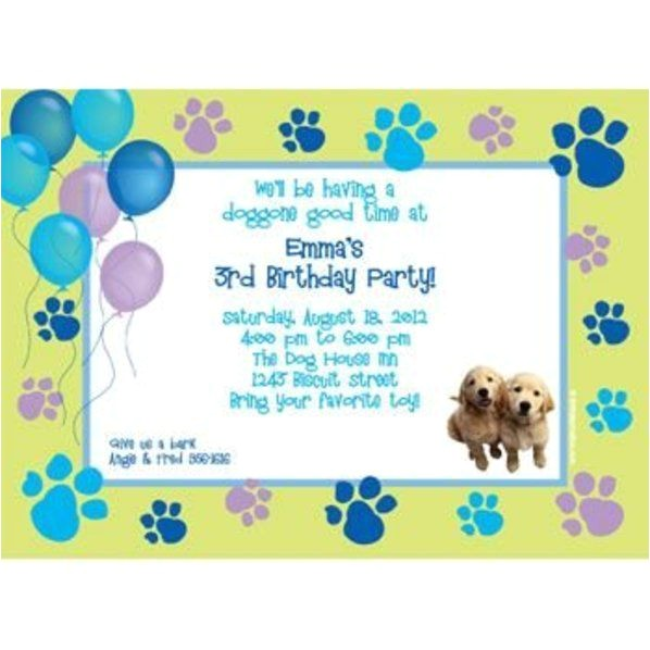 puppy party personalized invitation each