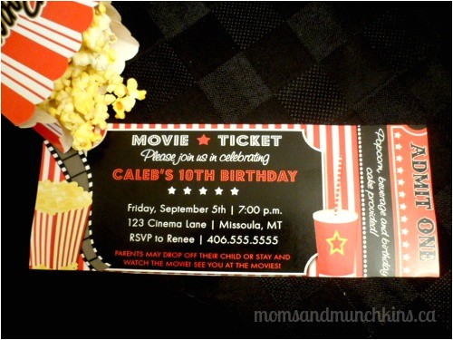 Drive In Movie Birthday Party Invitations Drive In Movie Birthday Party Moms Munchkins