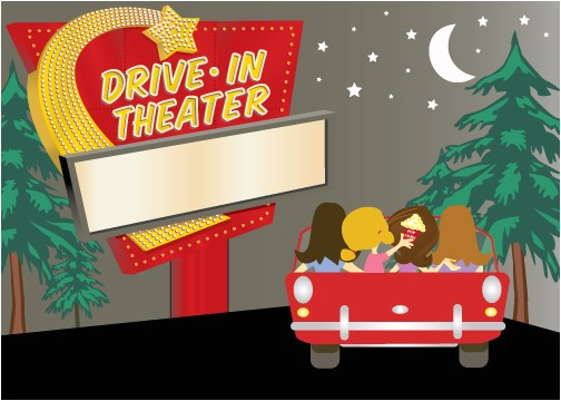 drive in movie cliparts