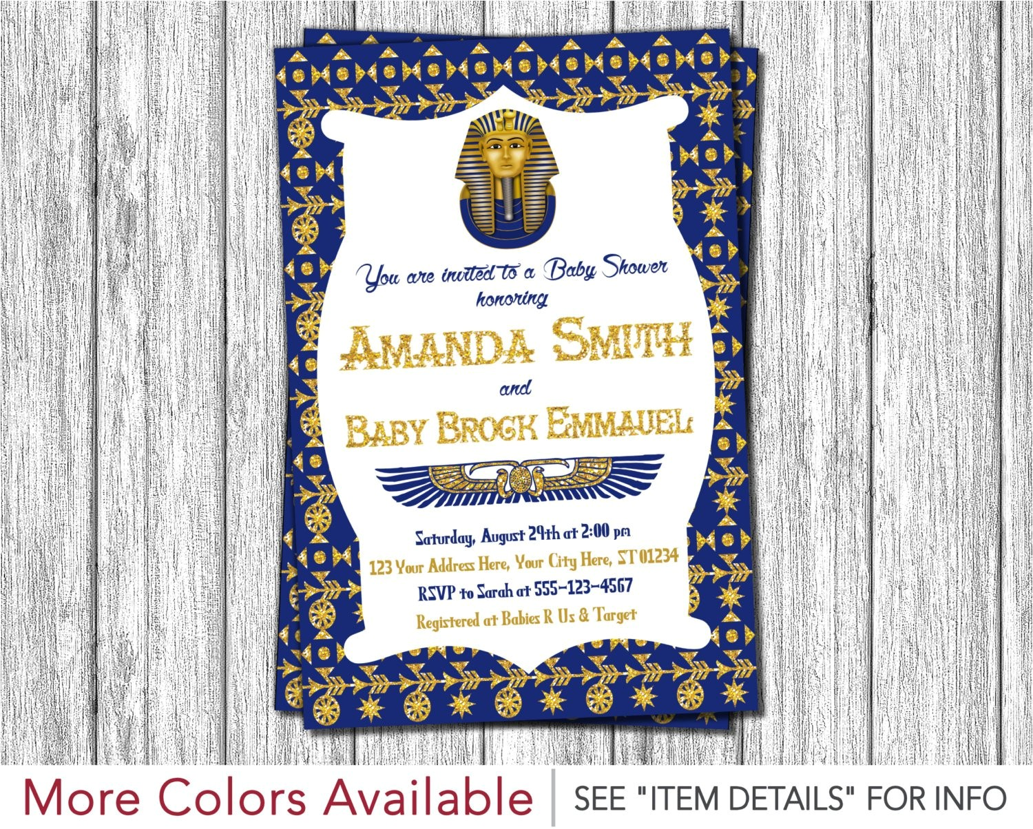 egyptian baby shower invitation egyptian