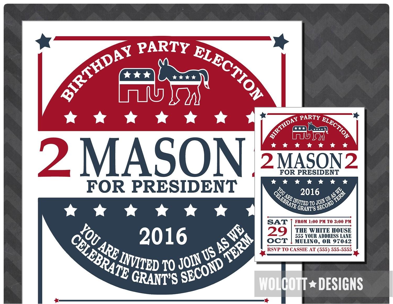 election birthday invitation election