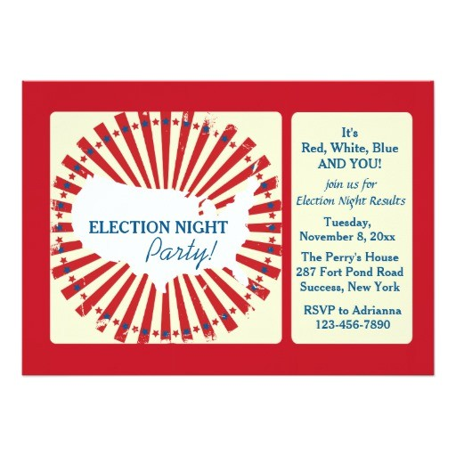 national election night party invitation 161391522827335353