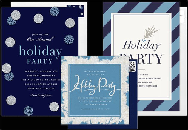 personal holiday invitations