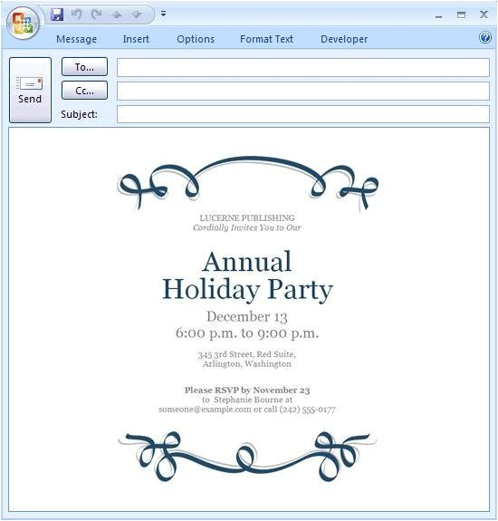 electronic christmas party invitations