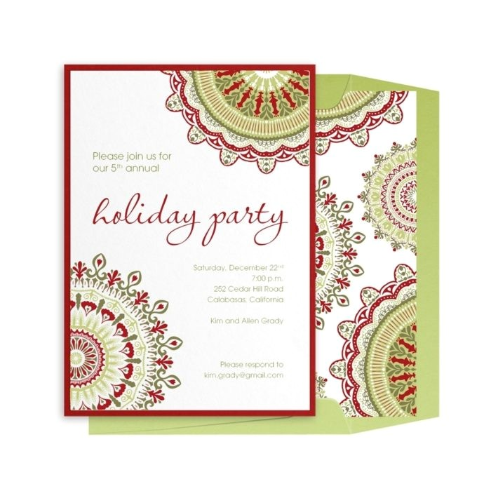 electronic holiday invitation templates free
