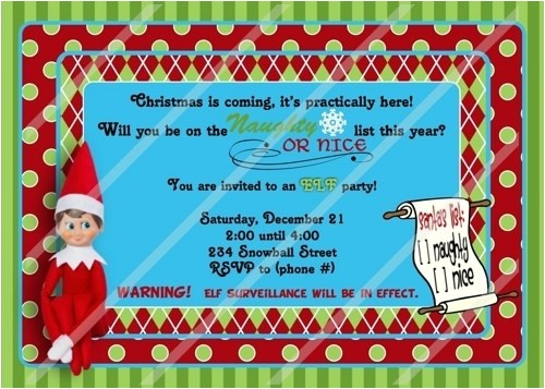 elf on the shelf birthday invitation 112812628
