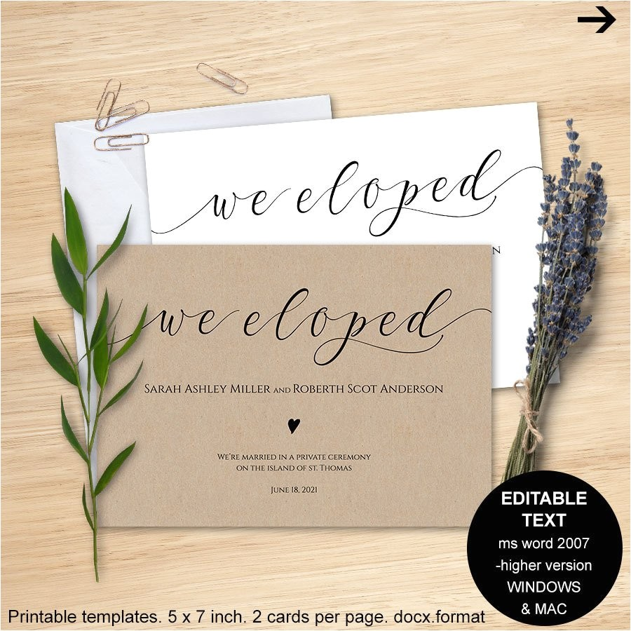 elopement announcement we eloped