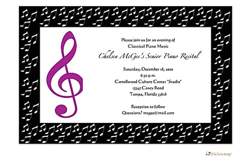 music party invitations