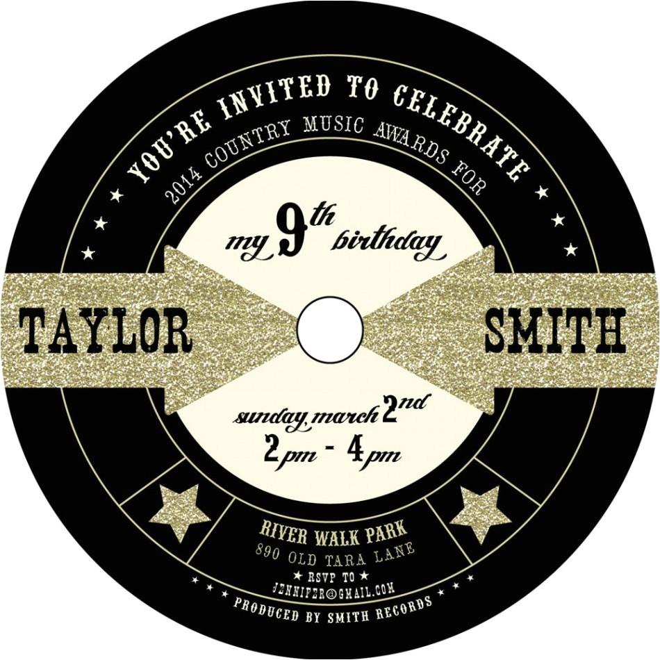 music themed invitations