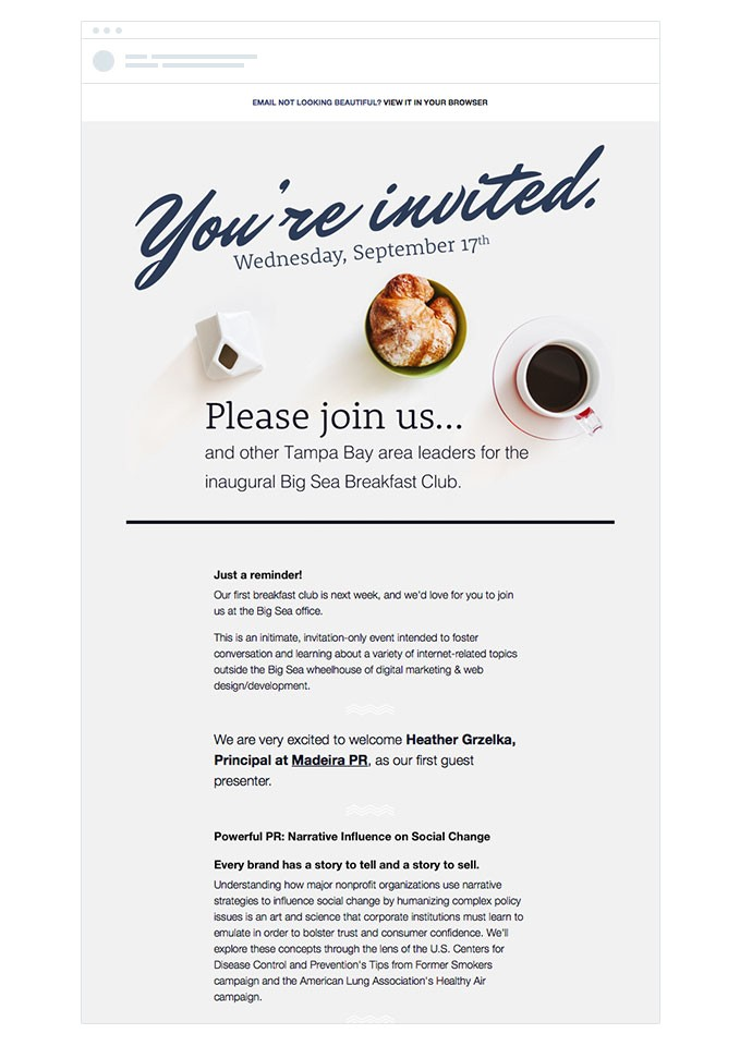 event invite emails learn from