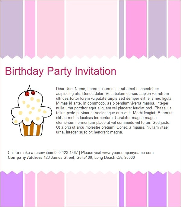 Email Party Invites Birthday Invitation Email Template 23 Free Psd Eps