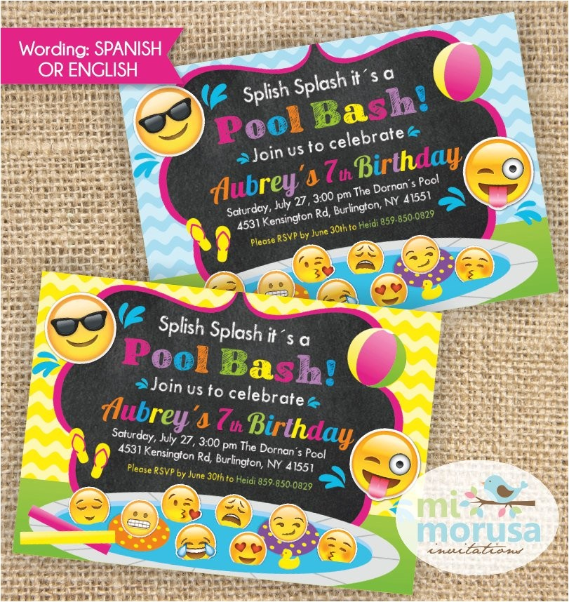 emoji emoticons emojis pool party