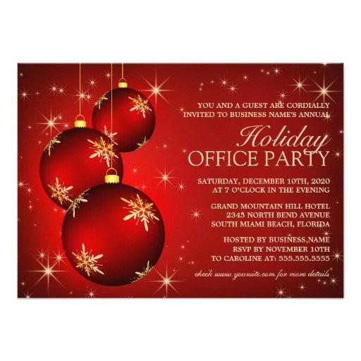 employee holiday party invitation