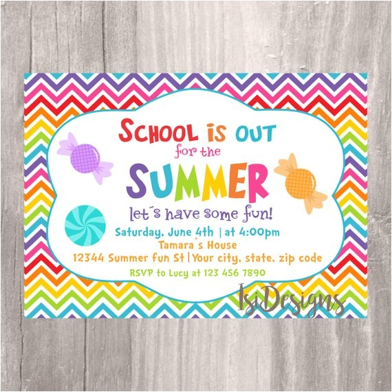 end of the year party invitation summer