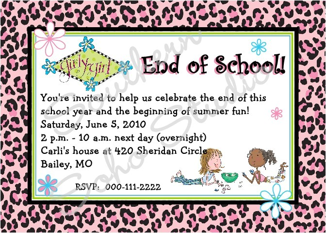 end of school year celebration
