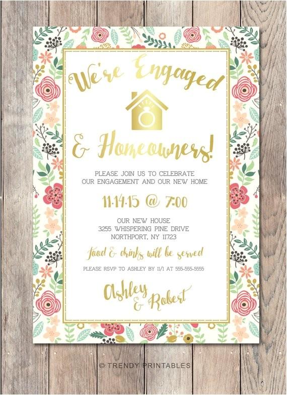 engagement party invitation housewarming