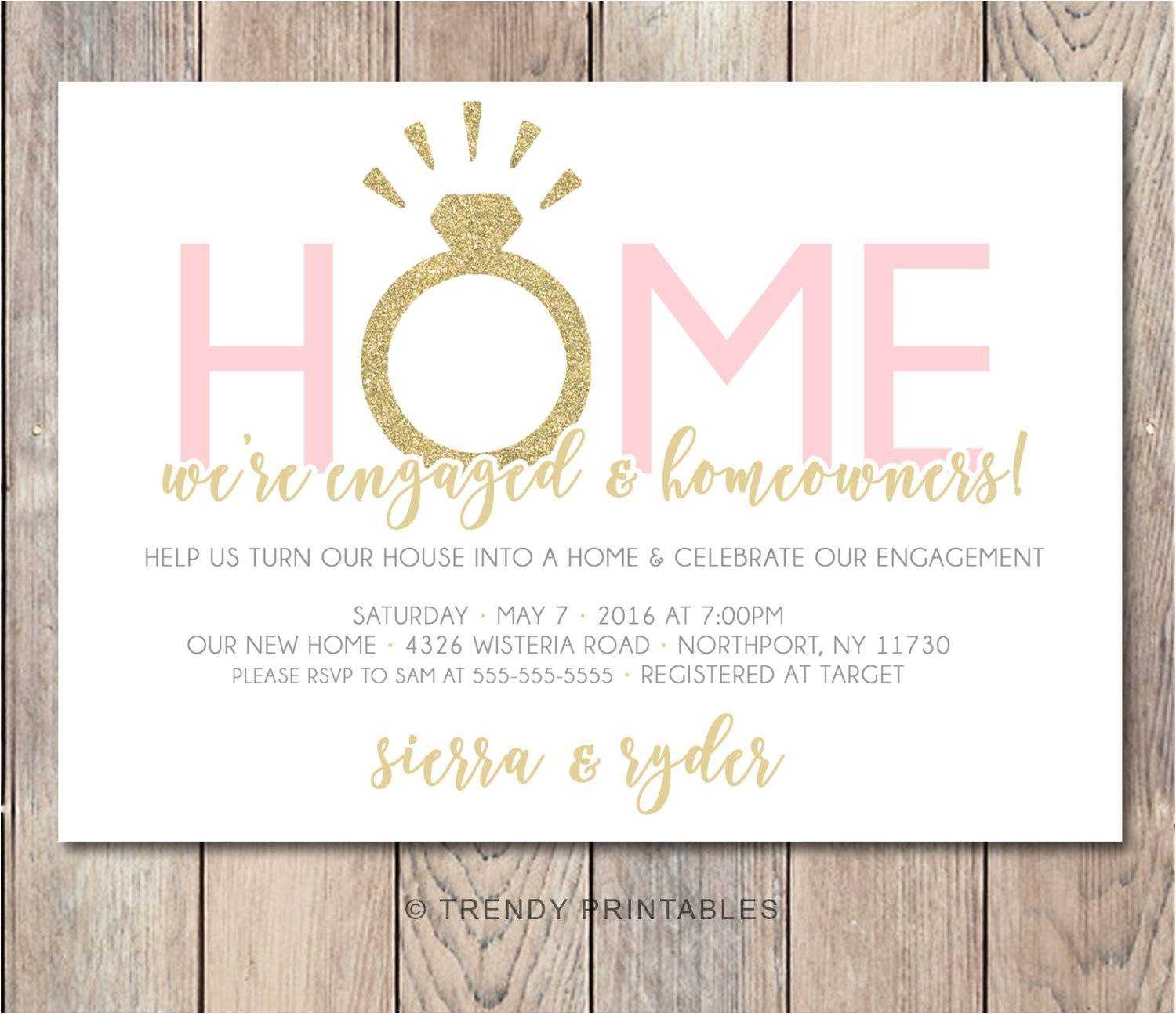 engagement party invitation housewarming