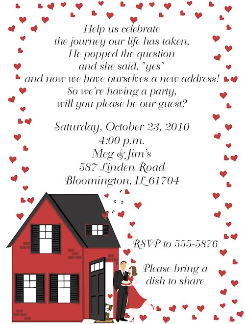 housewarming engagement party invitations