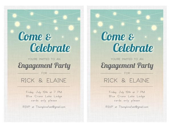 free engagement invitation