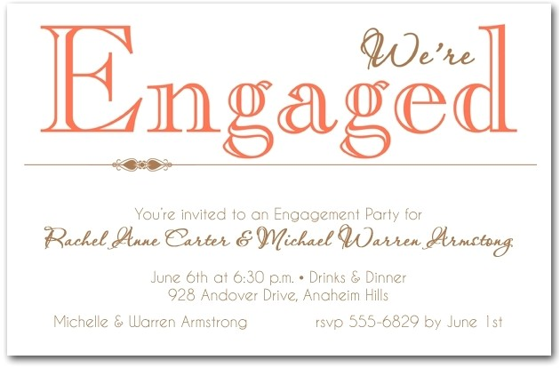 casual engagement party invitation wording 020947111