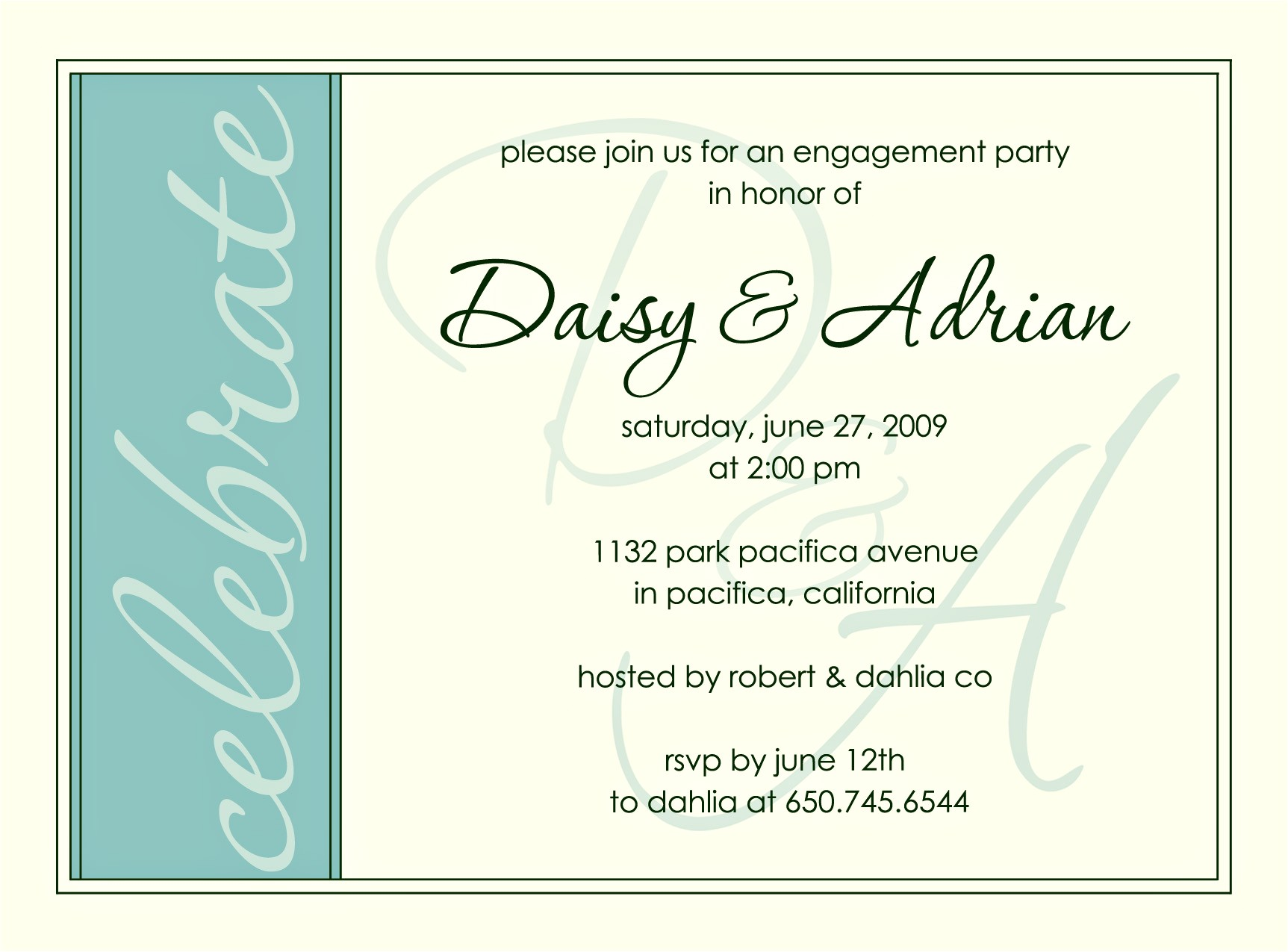 engagement invitation poems