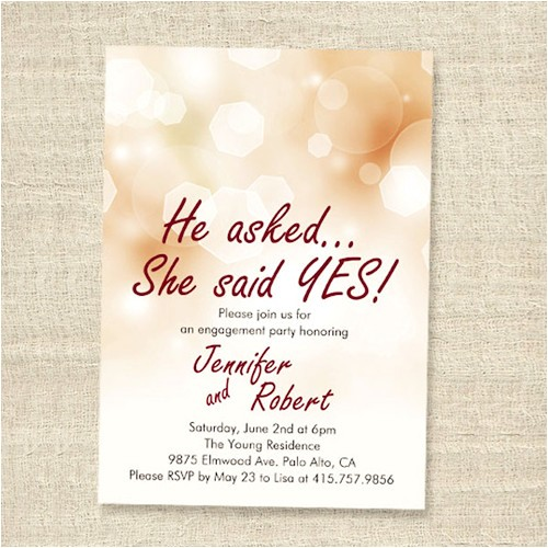 affordable shimmery elegant engagement party invitation cards ewei012