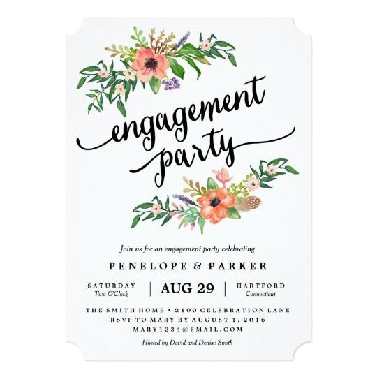 boho engagement party invitation 256444367257722720