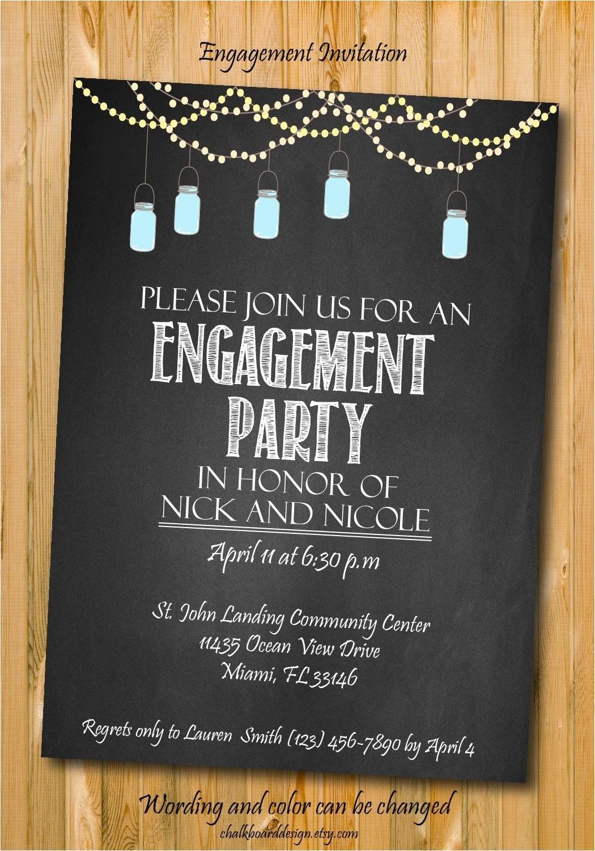 engagement invitation engagement party