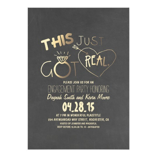 fun engagement party invitation this just got real 256196508983289578