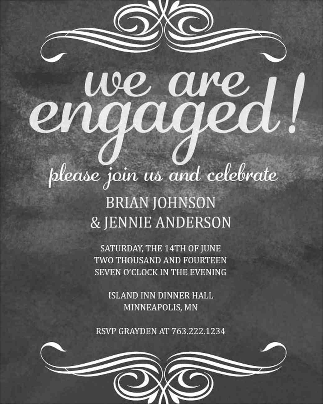 paperless engagement party invitations