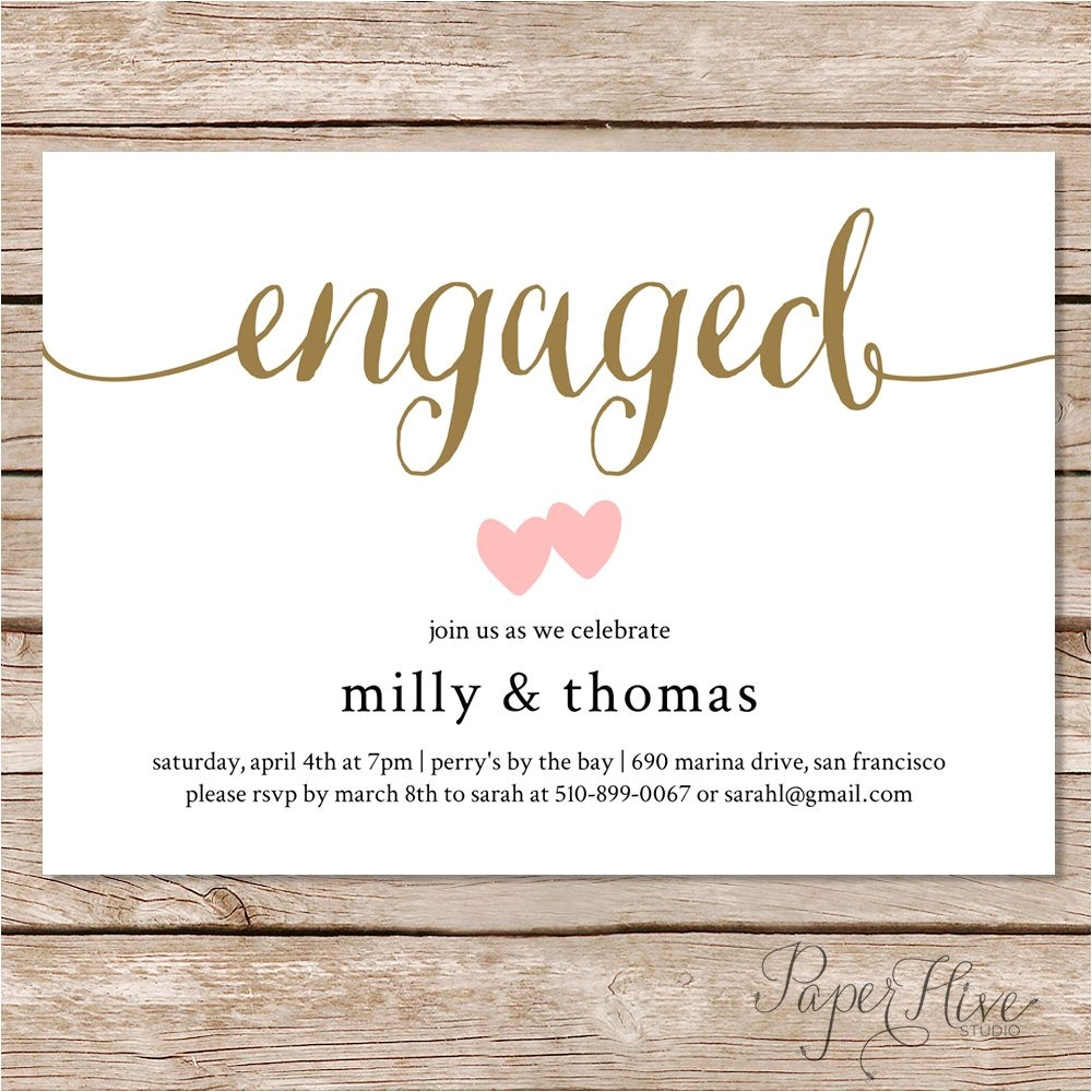 engagement party invitation engagement party invite engagement dinner couples shower diy printable 7