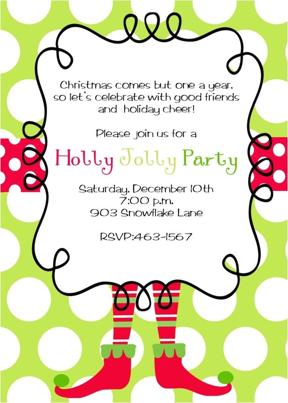 etsy christmas party invitations