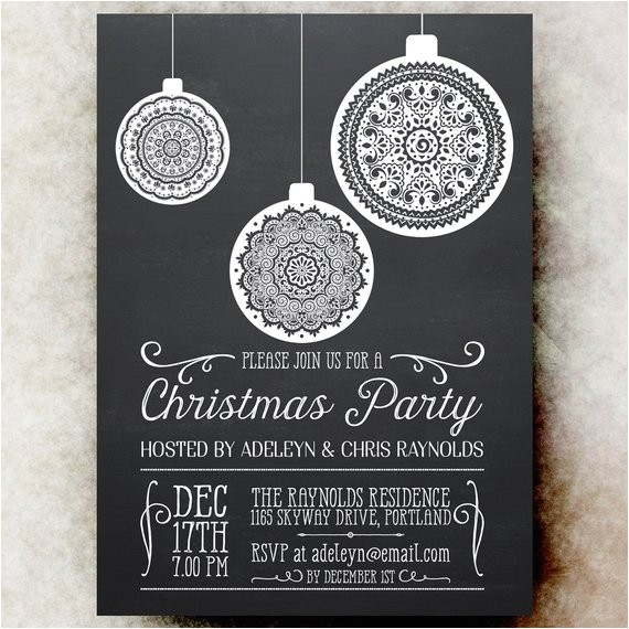 chalkboard christmas party invitation ref shop home active 19