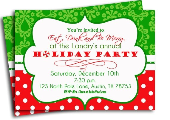christmas party invitation printable