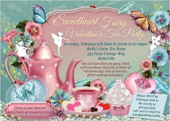 fairy tea party invitation birthday tea