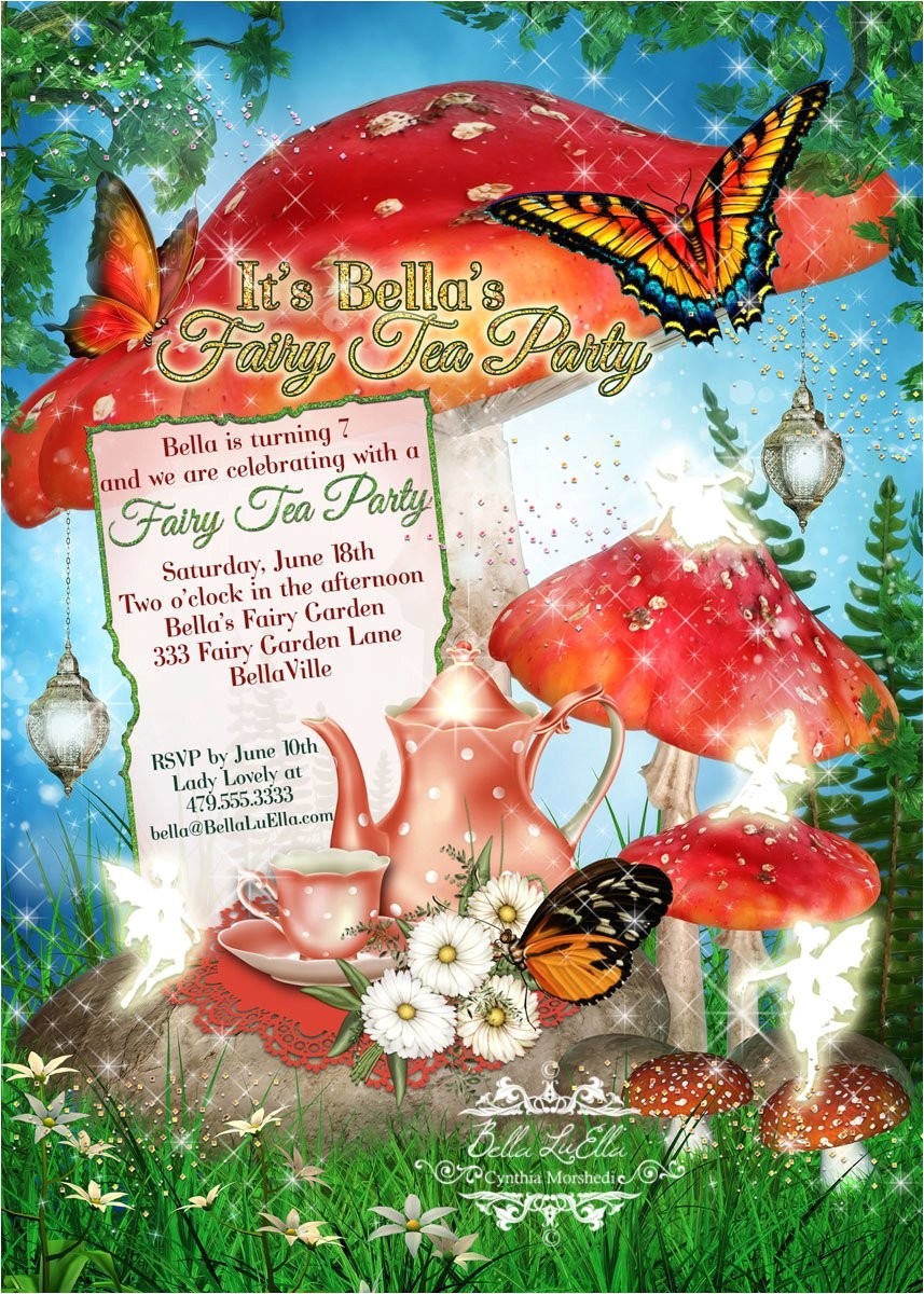fairy tea party invitation fairy garden