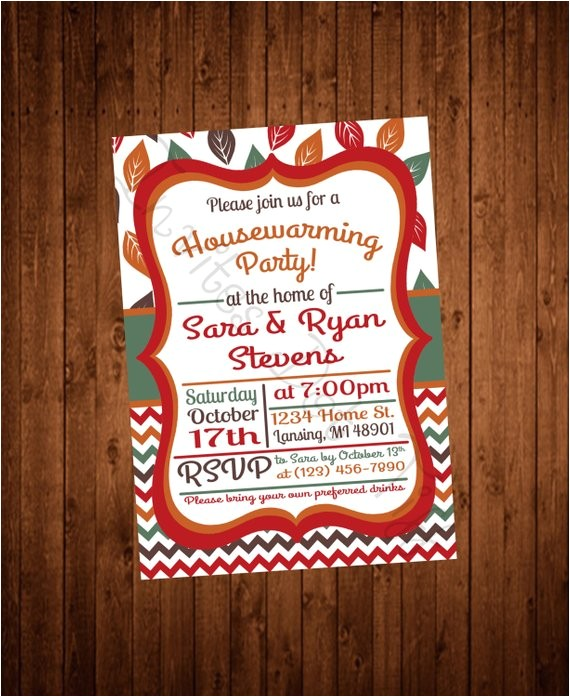 fall leaves printable housewarming party