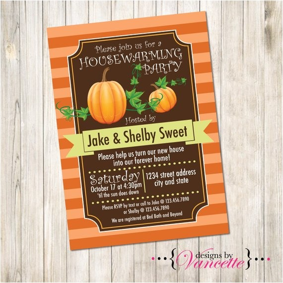 thanksgiving fall housewarming invite