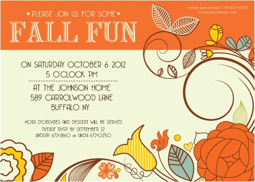 Fall Party Invites 6 Best Images Of Fall Printable Party Invitations Fall