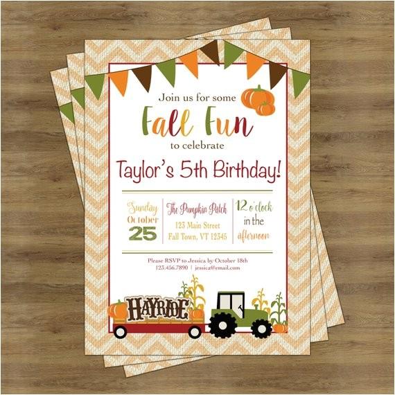 fall birthday invitation fall birthday